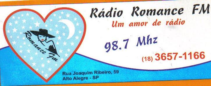 """RÁDIO ROMANCE FM 98.7 MHZ """"UM AMOR DE RÁDIO"""""""