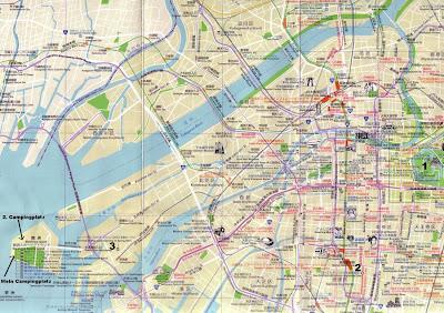 Osaka map for tourists