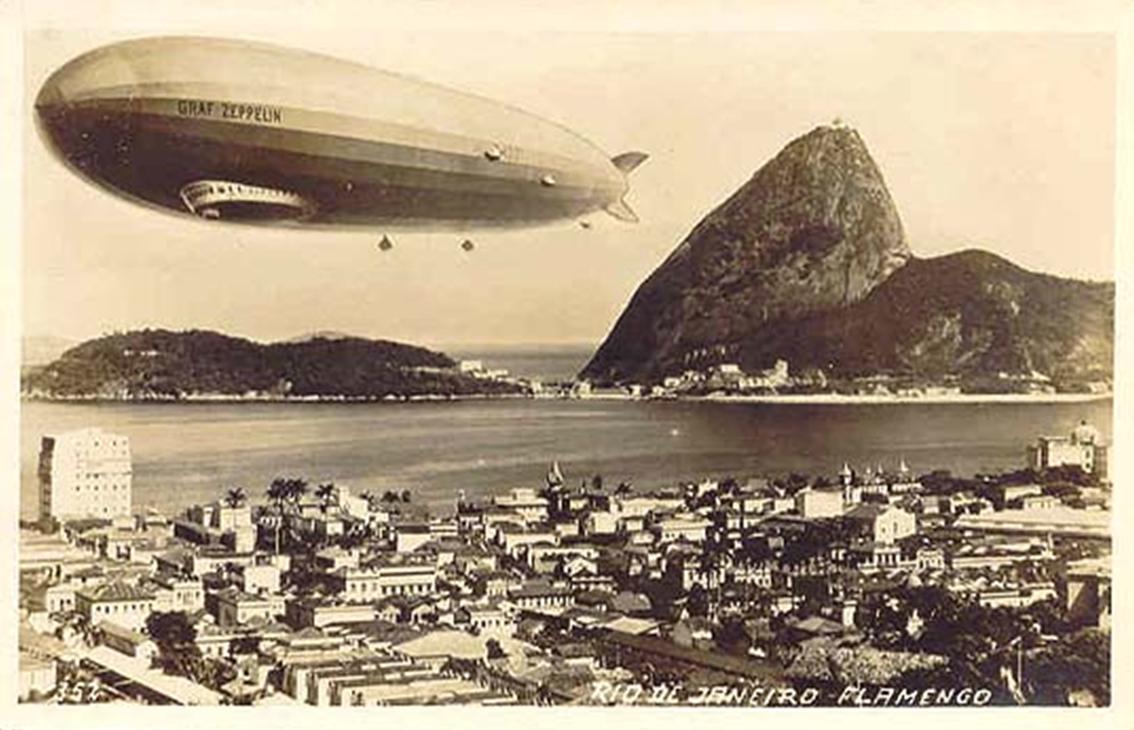 30 de Março de 1936: Dirigível Hindenburg parte para o Brasil