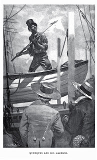 Drawing of Queequeg from Moby Dick