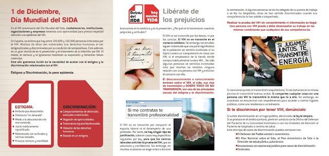 folleto Información y respeto para la NO discriminación - SIDA