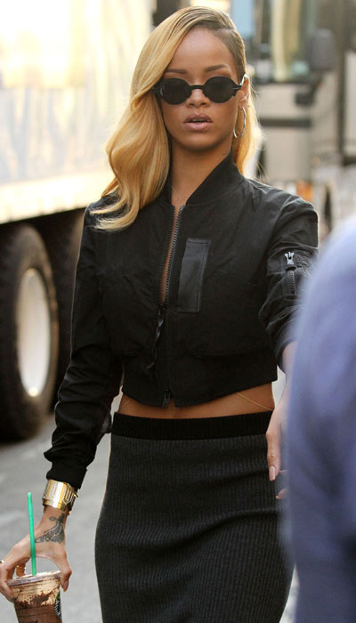rihanna new blonde hairstyle