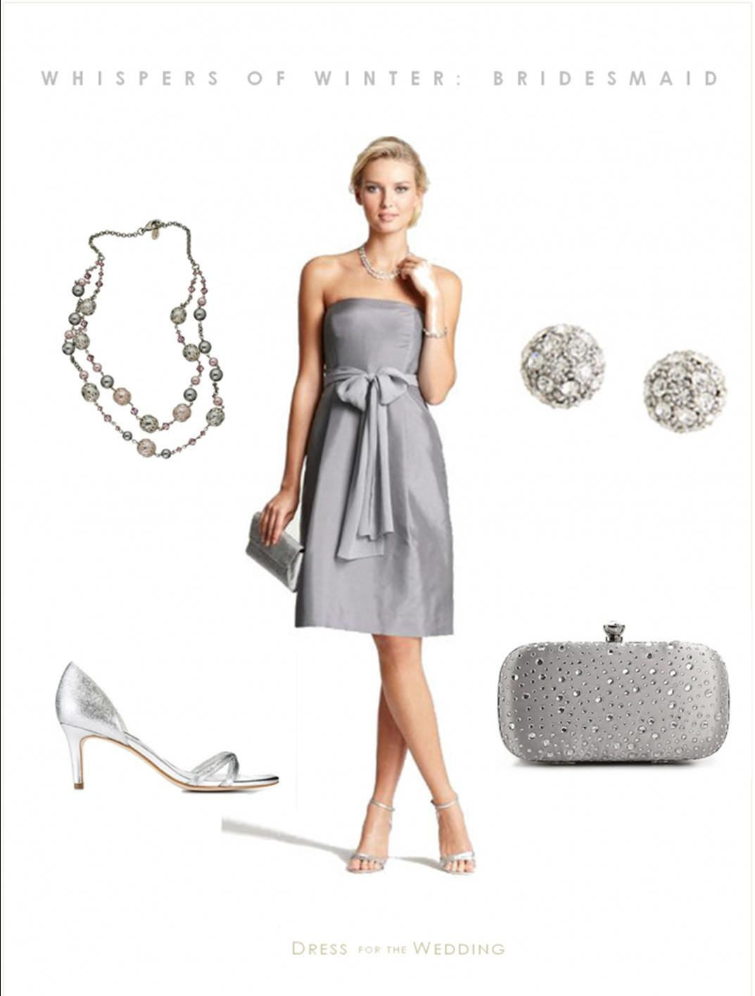 Live eventfully dress to be wednesday ann taylor medium grey silk dupioni strapless bridesmaid dress two layer gunmetal drape necklace nina kendahl genuine crystal pave stud earrings lulu ombrellifo Choice Image