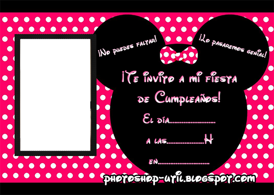 Invitaciones de cumpleaños Mickey & Minnie : Plantillas, recursos ...