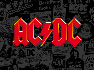 AC/DC Australian rock band Logo HD Wallpaper