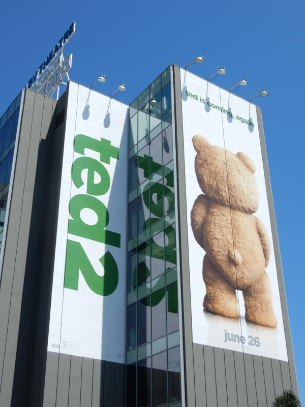 Giant Ted 2 movie billboard