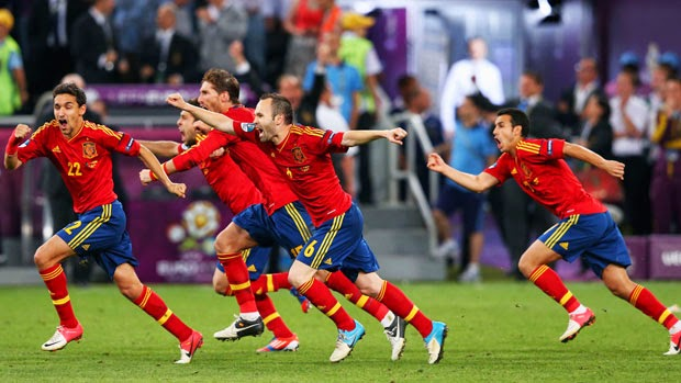 Spain win a penalties