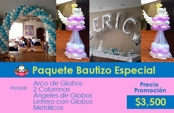 4aa3cec3ed6a3 Paquetes Decoración Bautizo