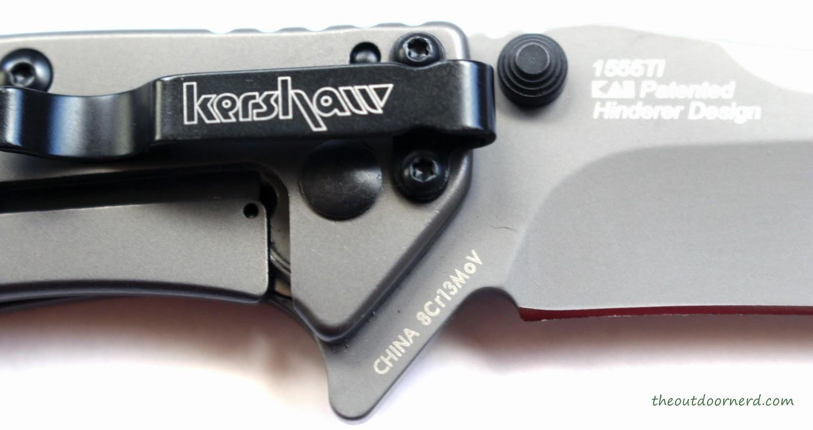 Kershaw Cryo EDC Pocket Knife: Closeup Of Logos
