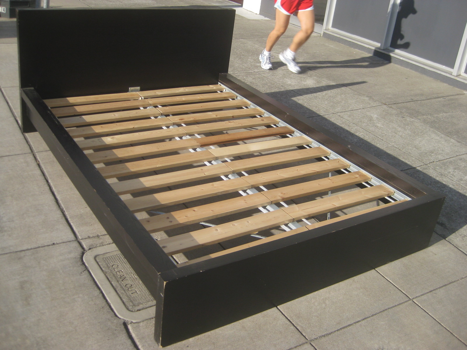 UHURU FURNITURE & COLLECTIBLES: SOLD Full Ikea Bed Frame - $75