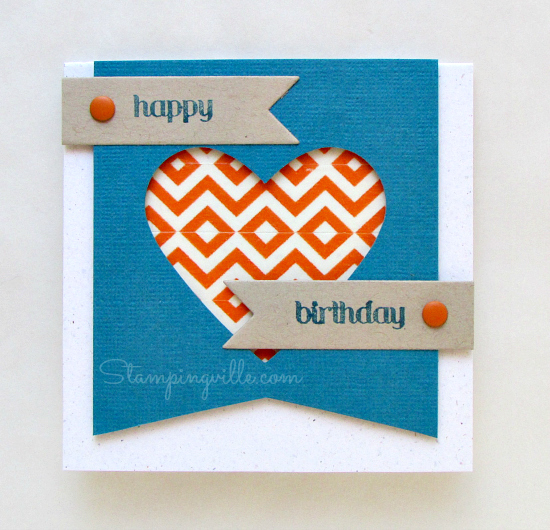 3x3 birthday gift/tag card with washi tape design