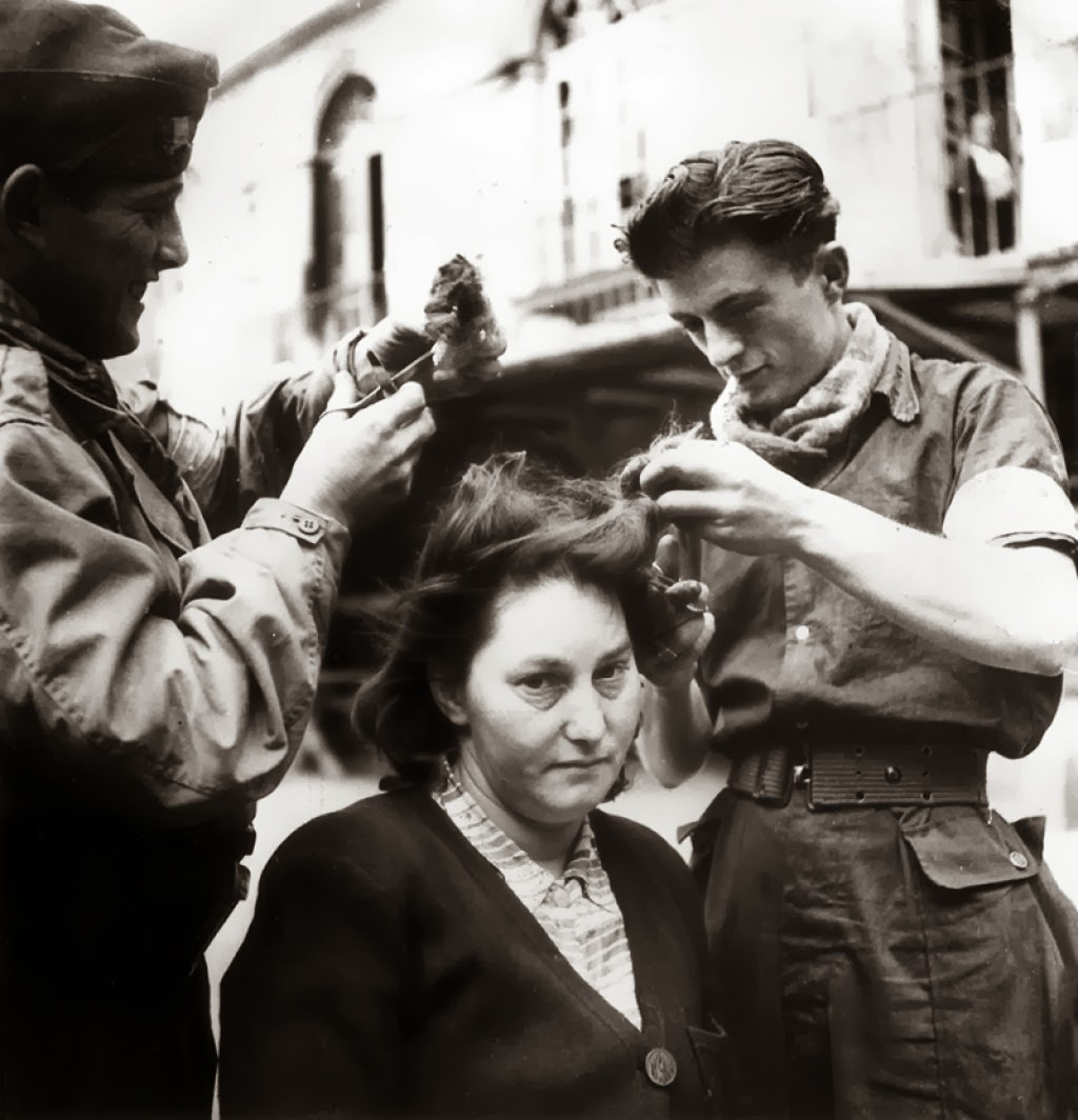 Commit error. nazi collaborators heads shaved publicly