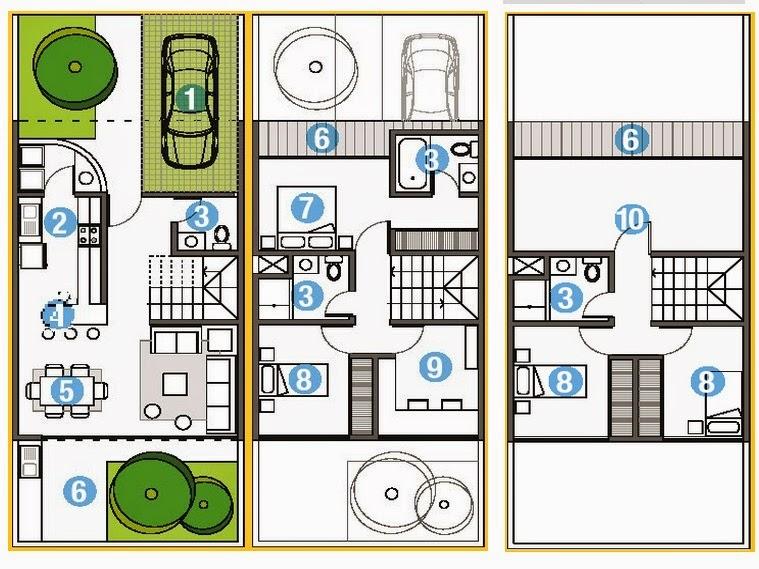 Planos Casas Modernas Plano Moderno 98 Metros Cuadrados