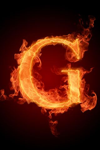 3d Iphone Wallpapers Fire G Letter Iphone Wallpaper
