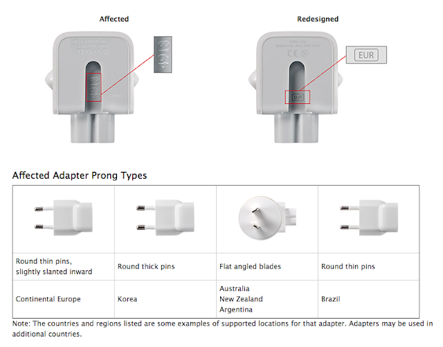 Apple recall mac wall plus adapter