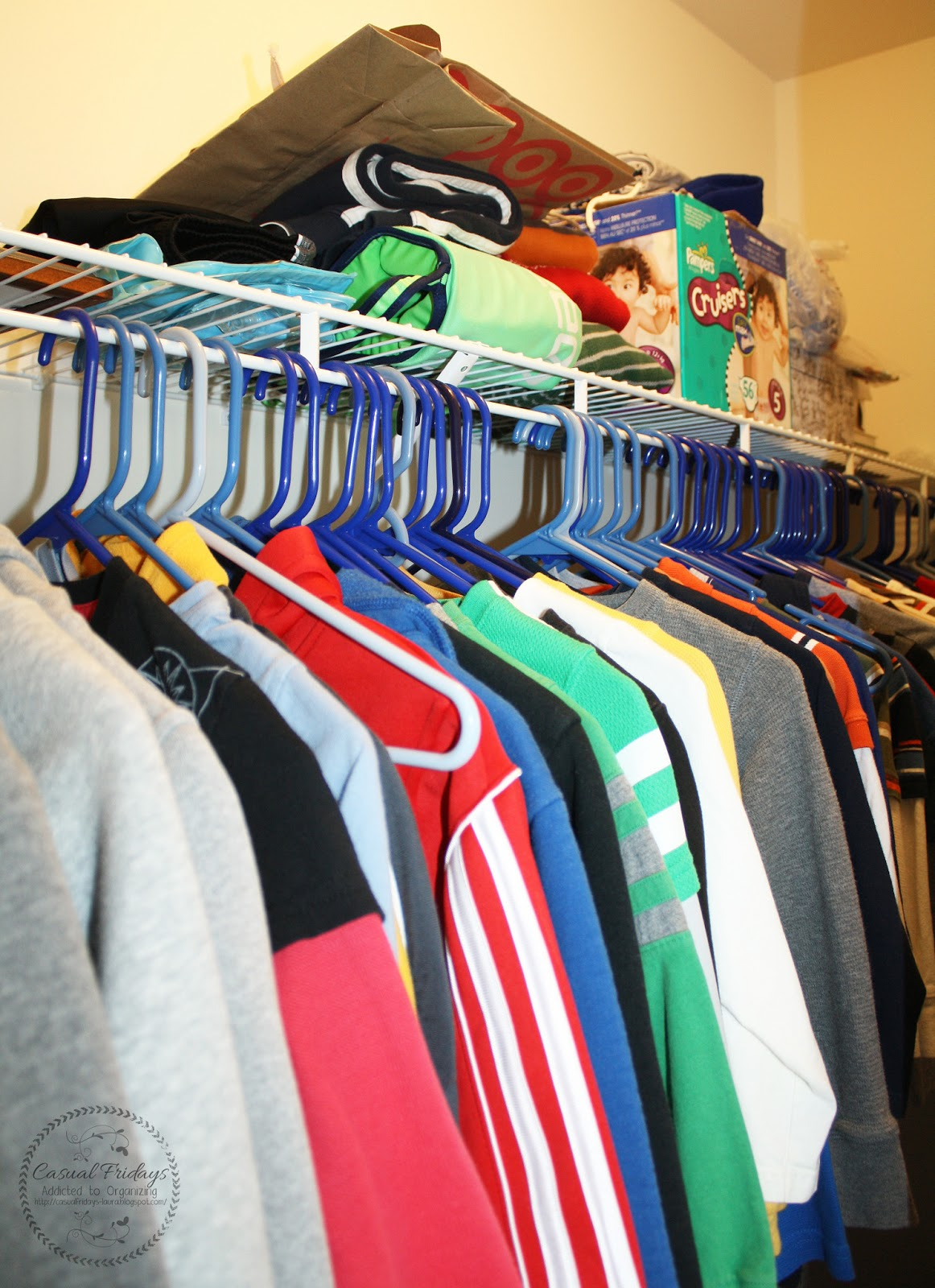 I Need To Have My Boys And My Clothes Organized By Sleeve Length And Color.  For Example My Closet Runs: No Sleeves, ...