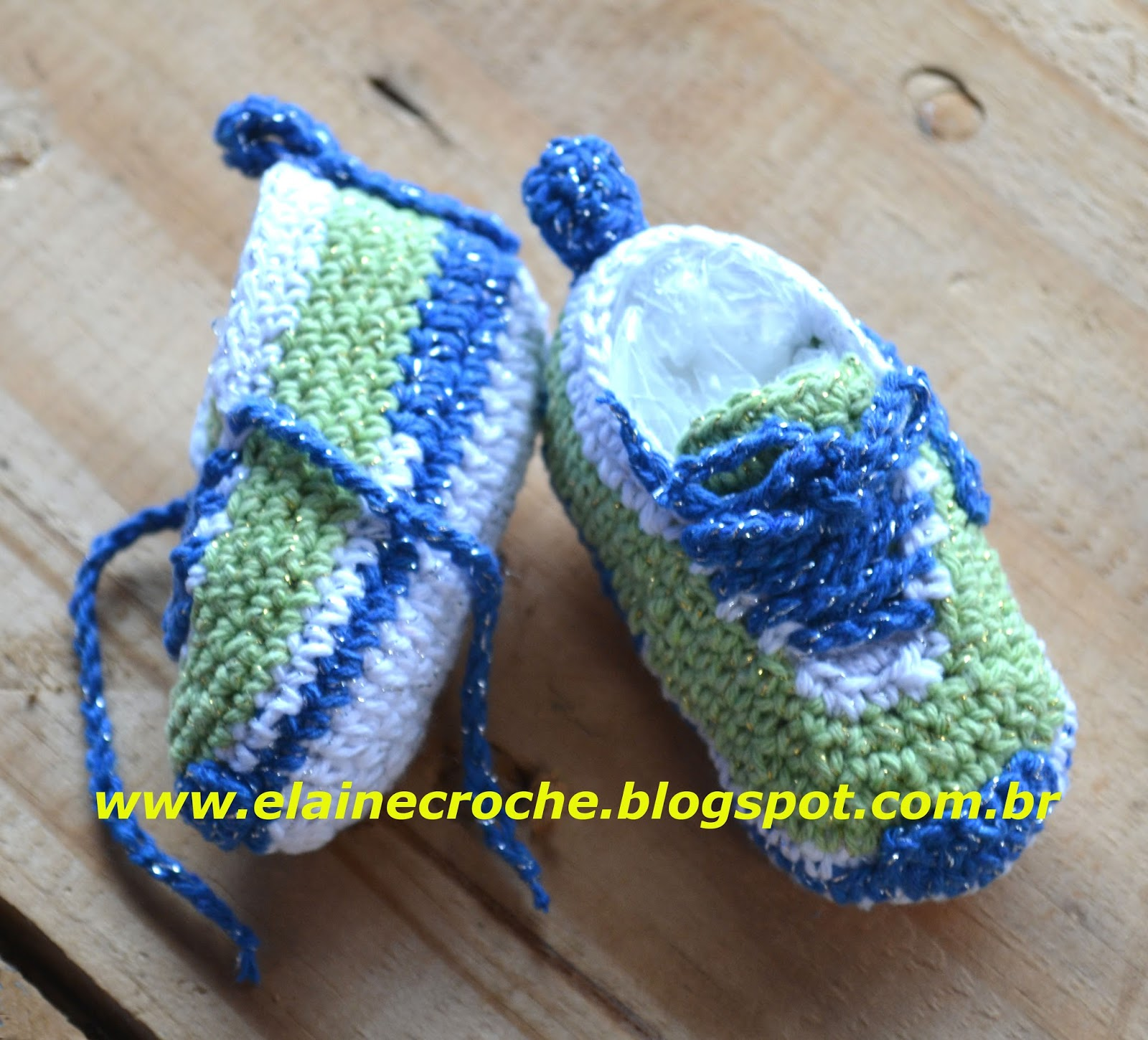 f2ec49dce Elaine Croche  Tênis Nike Bebê em Crochê - Vídeo Aula Crochê