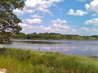 Seekonk River from Swan Point Cemetery Providence