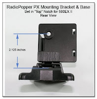 RadioPopper PX Mounting Bracket & Base - set for 580EX II - Showing Height of Sensor Location - Rear View