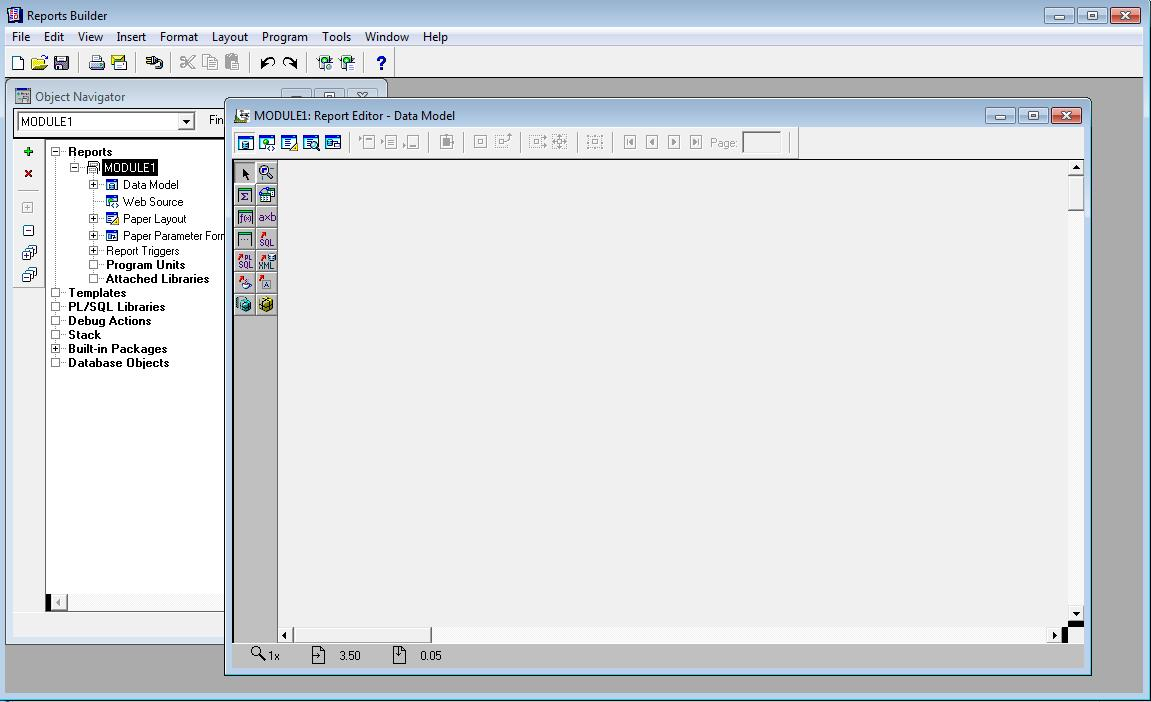 Oracle reports tutorials symrich select build a new report manually to begin a new design and click ok baditri Image collections