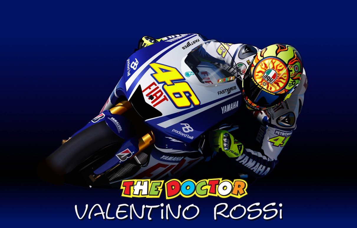 Exclusive Canvas Wall Art: Stickers/Vinyl Valentino Rossi The Doctor