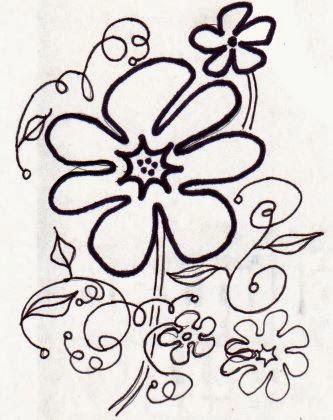 Floral doodle by eSheep Designs