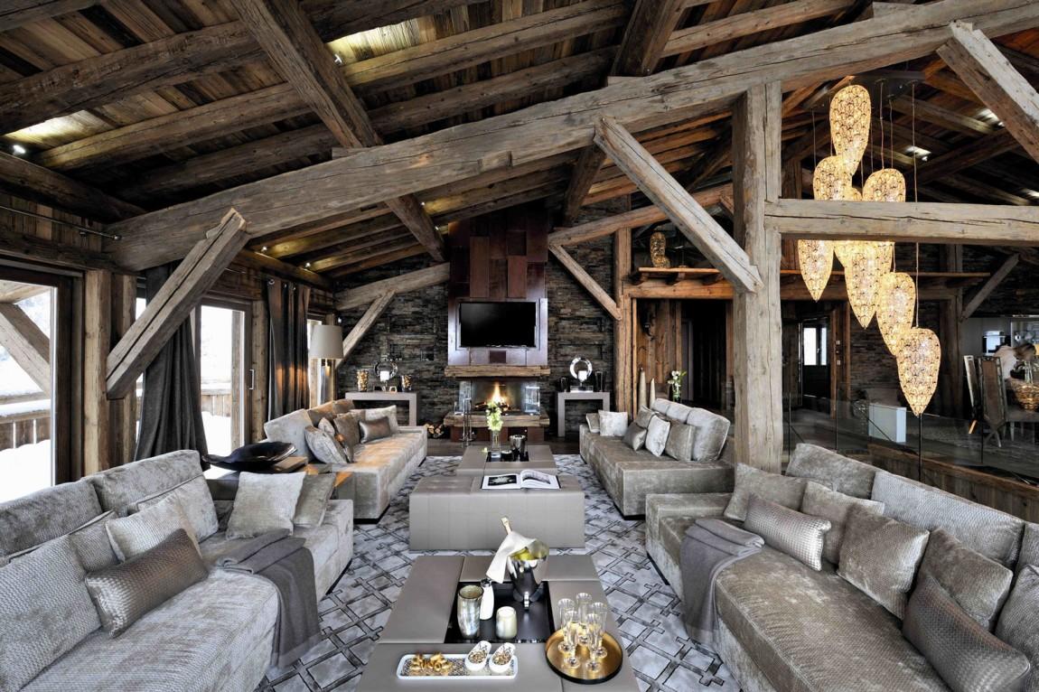 elledueo chalet design holiday of extreme luxury in megeve. Black Bedroom Furniture Sets. Home Design Ideas
