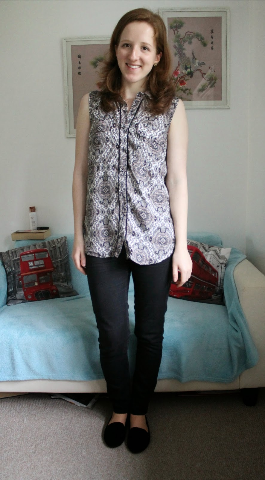 OOTD: Paisley Shirt and Slipper