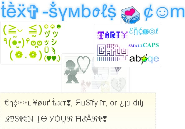 Emoticons Text Symbols. text-symbols.com is a really