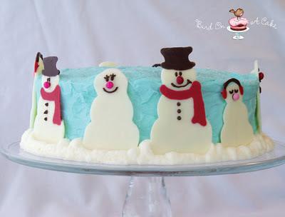 Bird On A Cake Snowman Cake