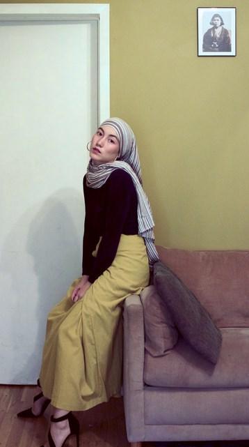 Padu PAda Hijab Gari-garis