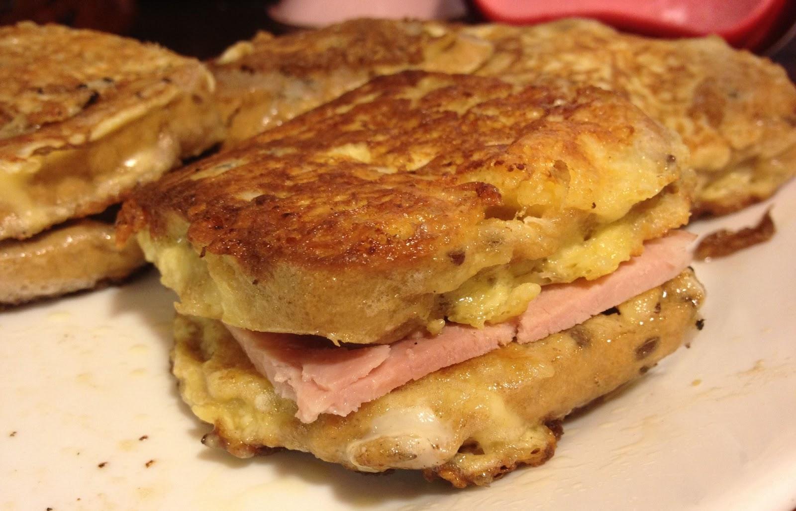 Eggy Bread Ham Sandwich