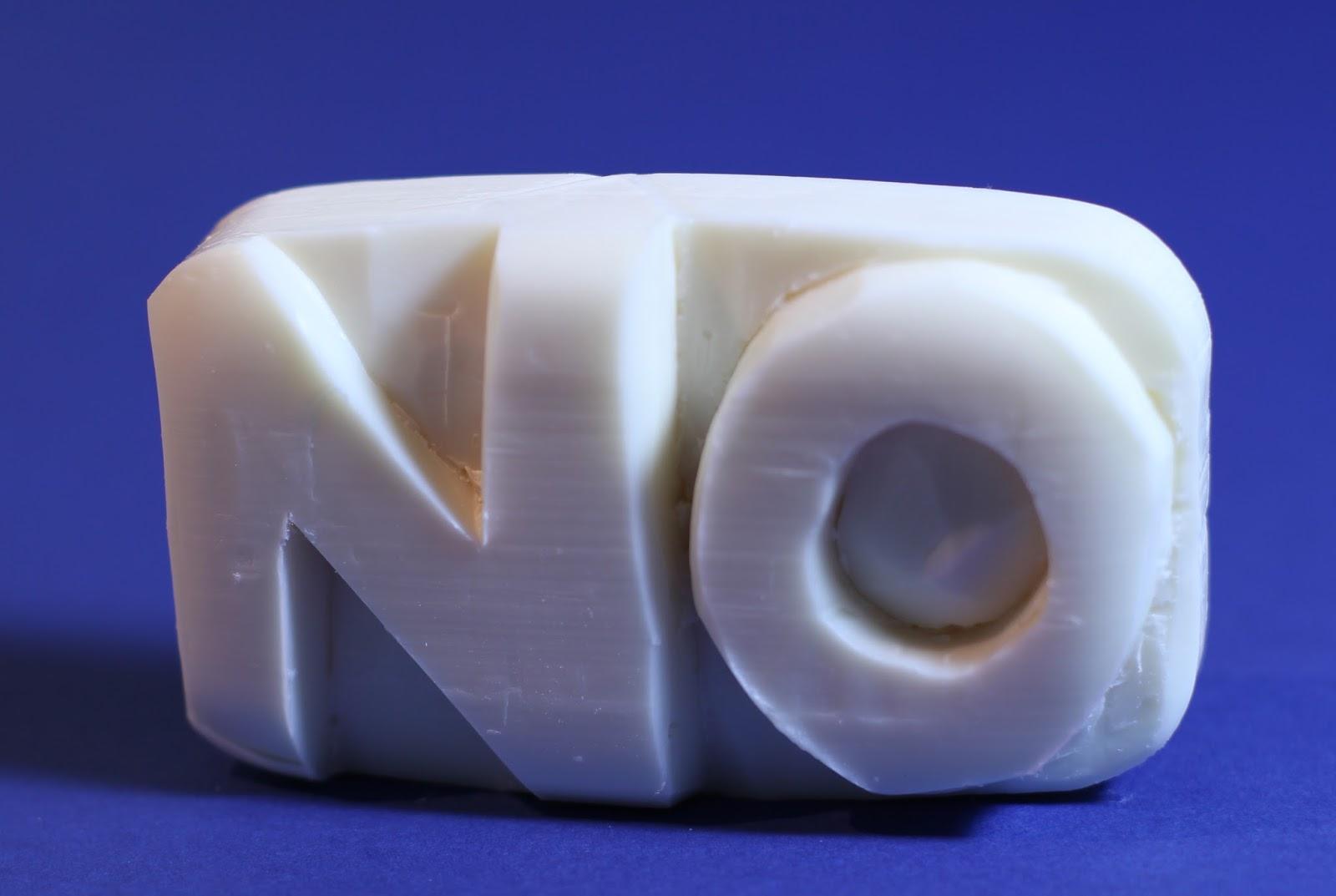Auto destructive soap sculpture