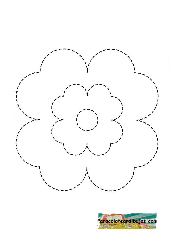flor para repasar y colorear