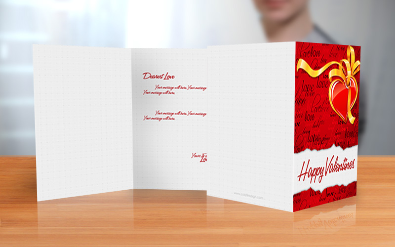 Valentine Card PSD Template