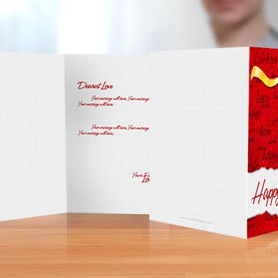 Valentine Card PSD Template mockup