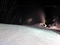 Snowmaking at the top of Midway, West Mountian, Weds night Feb 6, 2013.  The Saratoga Skier and Hiker, first-hand accounts of adventures in the Adirondacks and beyond, and Gore Mountain ski blog.