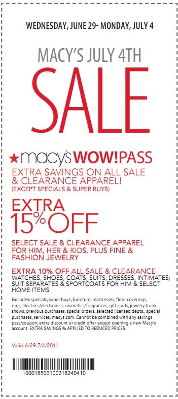 Macys wow coupon december 2018