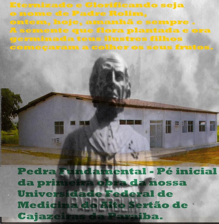 BUSTO DO PADRE ROLIM AO LADO DA CAMARA MUNICIPAL DE CAJAZEIRAS