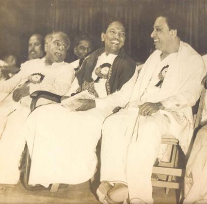 MGR with Anna Durai & Karunanidhi