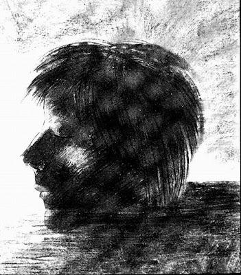Odilon+Redon-+Head+of+Orpheus+Floating+o