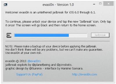Evasi0n iOS 6
