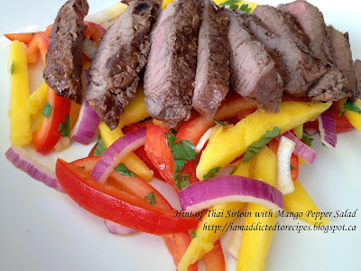 Hint of Thai Sirloin and Mango Pepper Salad | Addicted to Recipes