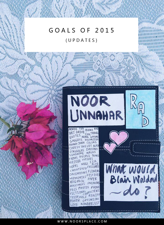 Goals of 2015 Updates Noor's plce blog