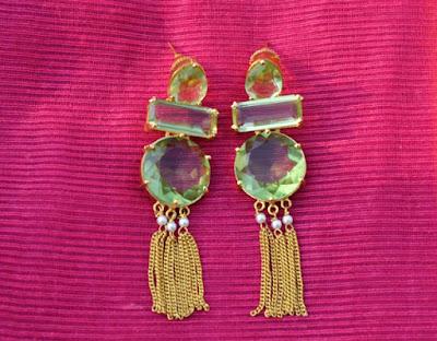 Statement earrings Indian Jewellery Perkymegs