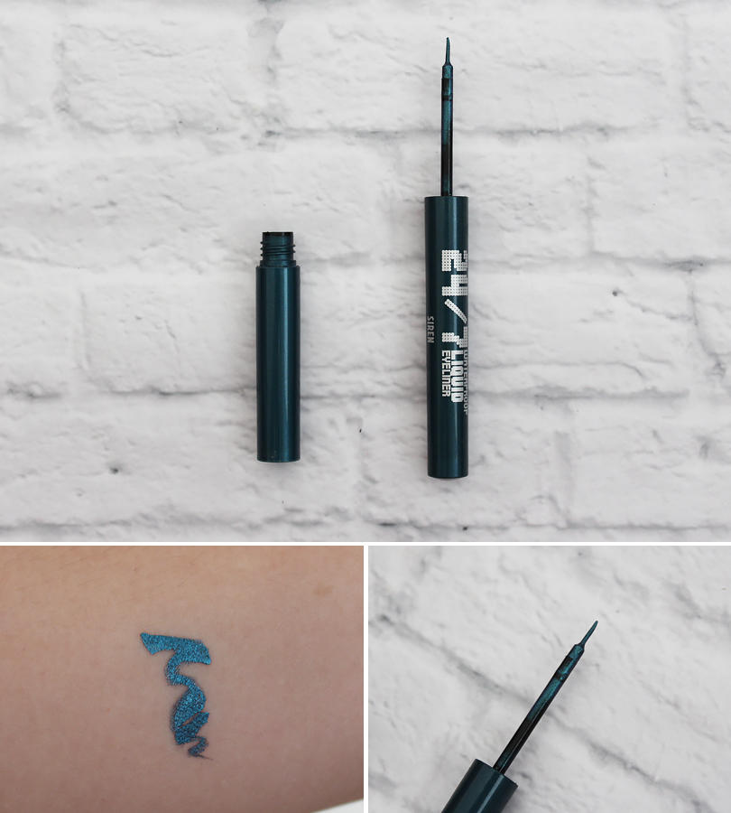Urban Decay 24/7 Waterproof Liquid Eyeliner in Siren swatch review makeup look brown eyes eotd pictures liner