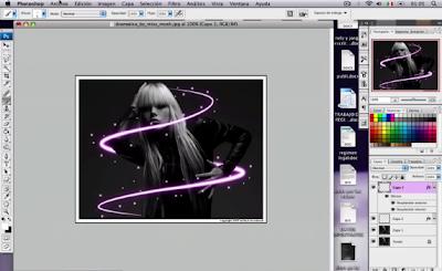 Photoshop-Efecto-de-líneas-de-luz-VIDEO