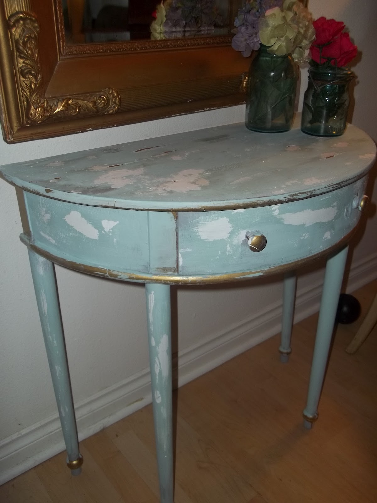 Adorable Shabby Chic Half Moon Entry Table - $35 (SOLD) | Thrifty ...