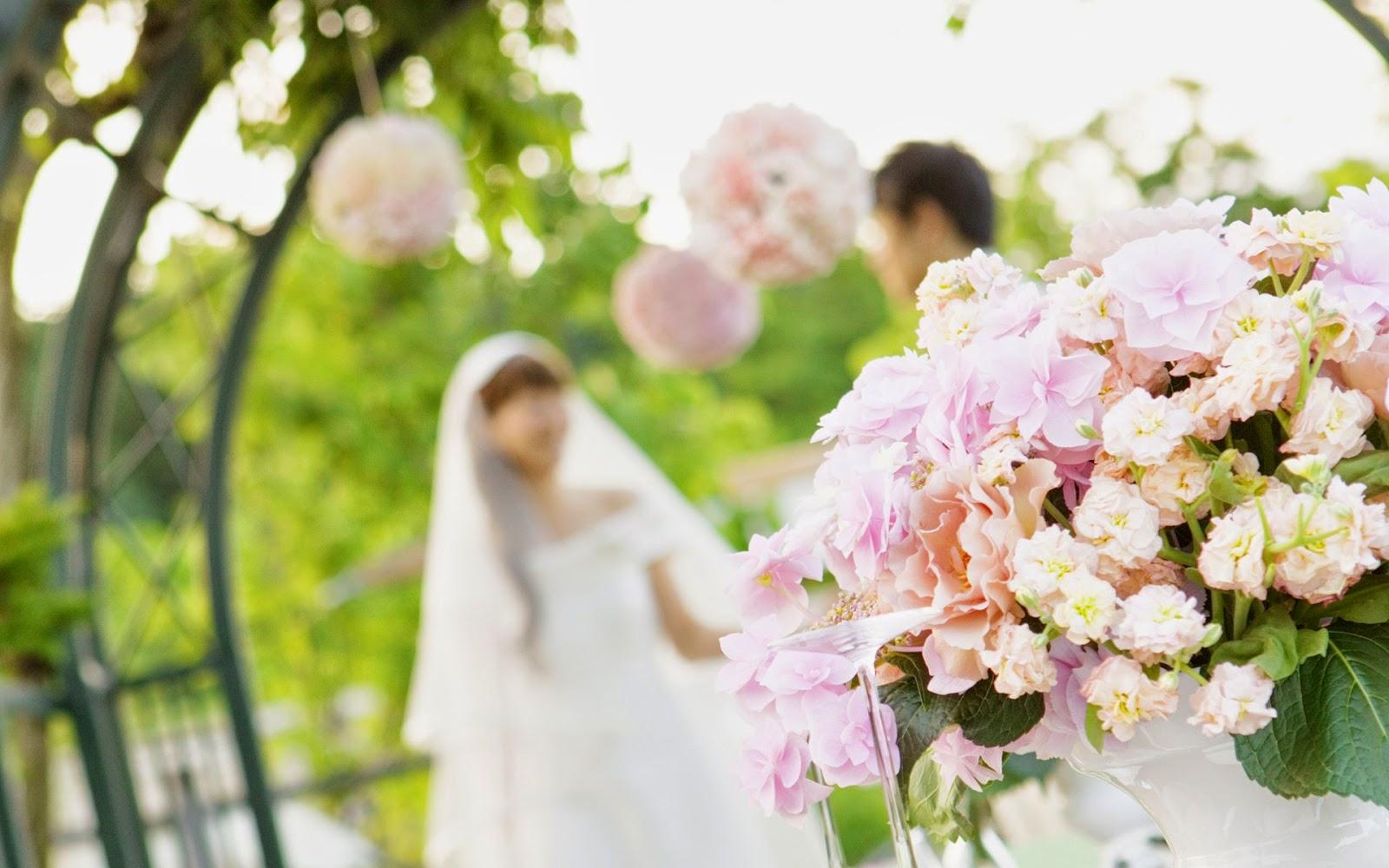 Romantic wedding wallpaper - Wedding pictures