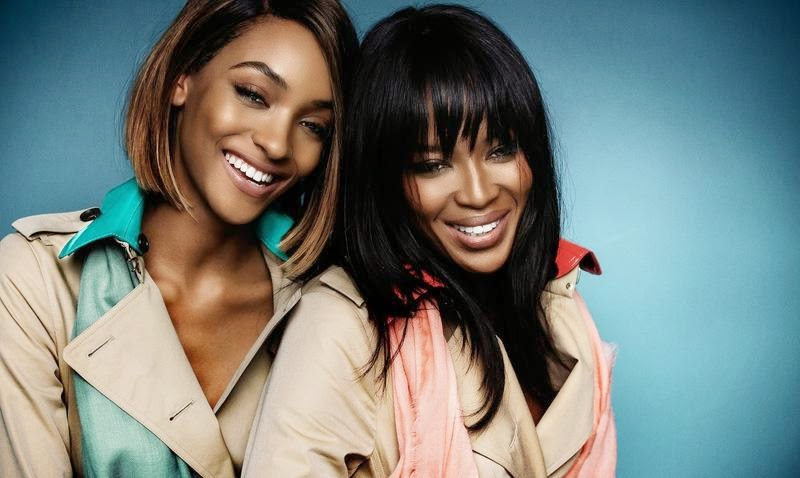 Burberry Spring/Summer 2015 campaign featuring Naomi Campbell and Jourdan Dunn
